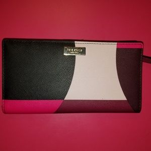 Authentic kate spade slim bifold wallet